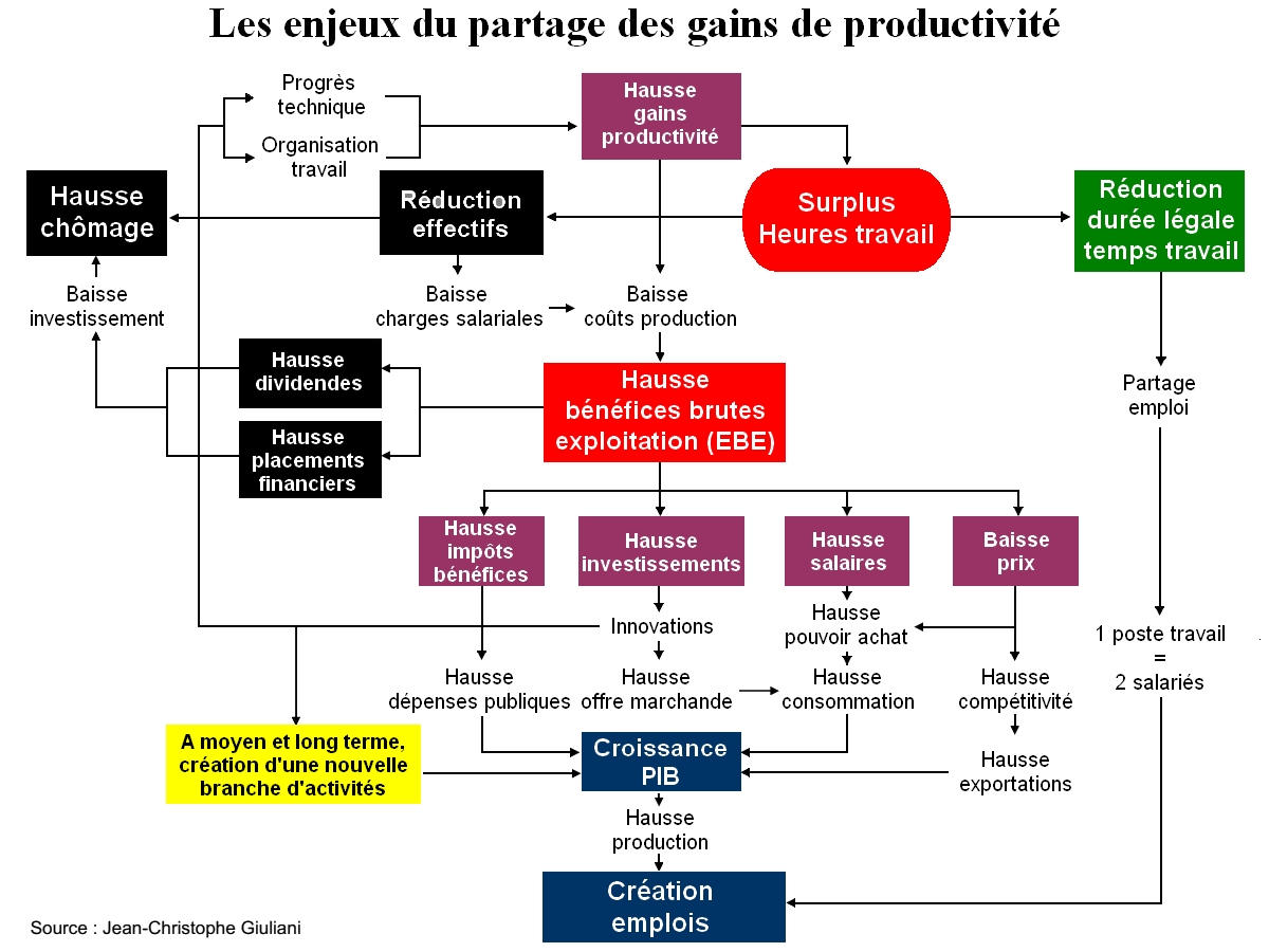 Causes Et Consequences Des Gains De Productivite